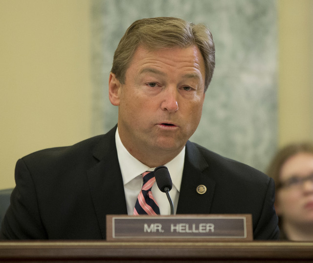 Sen. Dean Heller, R-Nev., one of the sponsors of extended jobless benefits, made a plea this month to House Speaker John Boehner to pass a jobless bill, but was rebuffed. (AP File Photo/Pablo Mart ...