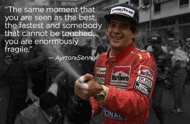 Ayrton Senna of Brazil won three Formula One world driving championships and 41 races. Many people believe he was the greatest driver who ever lived.