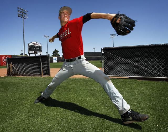 UNLV pitcher Erick Fedde (Jason Bean/Las Vegas Review-Journal)