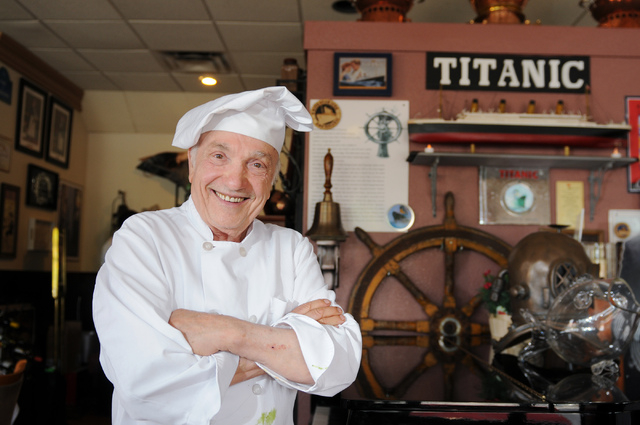 Chef and owner Eli Bernard Tordjman poses for a photo in his restaurant at Bernard's Bistro in Henderson, Nev., Saturday, May 17, 2014. (Erik Verduzco/Las Vegas Review-Journal)