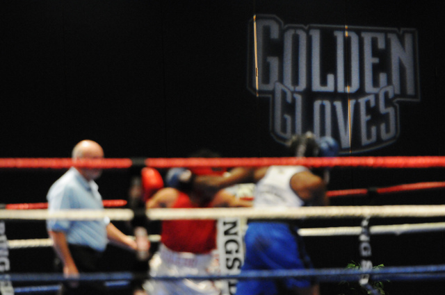 Boxers compete during the Golden Gloves Tournament of Champions at the LVH casino-hotel in Las Vegas Wednesday, May 14, 2014. (Erik Verduzco/Las Vegas Review-Journal)
