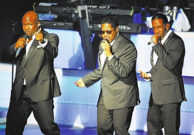 """Boyz II Men will get exposure for a pair of new songs on """"The Bachelorette."""" (Chase Stevens/Las Vegas Review-Journal)"""