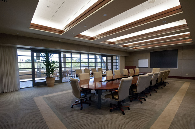The boardroom of the Donald W. Reynolds Foundation building is seen in Summerlin on April 30.  (Jerry Henkel/Las Vegas Review-Journal)