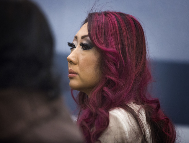 Gloria Lee, 35, appears in Clark County Justice Court  Wednesday, Feb. 5, 2014. Lee is free on $340,000 bond. Lee, who faces arson and insurance fraud charges for the January blaze at the Prince a ...