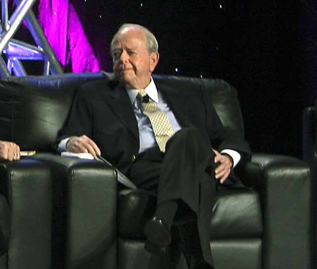 Burton Cohen is shown in this Nov. 17, 2010, file photo as he participates in a discussion on the gaming industry at the G2E conference. Cohen died Monday, sources told the Review-Journal. (JOHN G ...