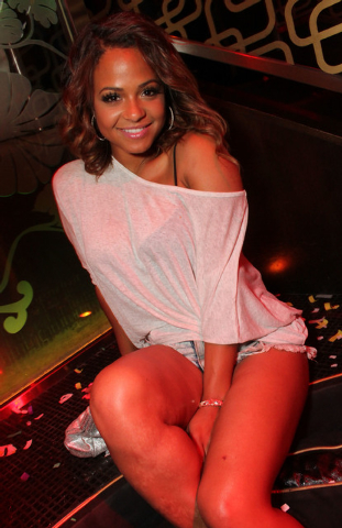 Christina Milian and fiance Jas Prince partied at Bank nightclub in Bellagio. (Courtesy photo)