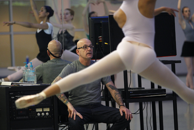 "Nevada Ballet Theatre Artistic Director James Canfield oversees a rehearsal for the NBA's season closer ""Coppelia"" in their studio in Summerlin on Thursday, April 24, 2014. (Jason Bean/L ..."