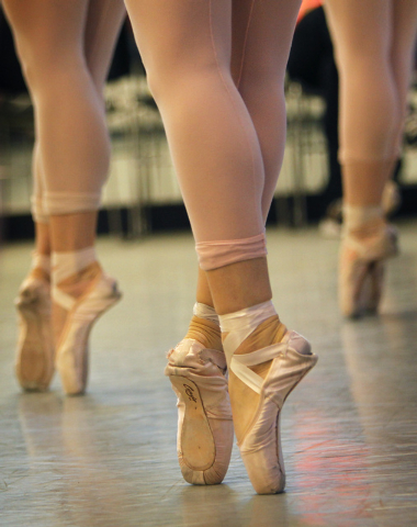 "Nevada Ballet Theatre dancers rehearse for the NBA's season closer ""Coppelia"" in their studio in Summerlin on Thursday, April 24, 2014. (Jason Bean/Las Vegas Review-Journal)"
