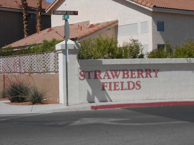 Strawberry Fields Lane is party of a subdivision inspired by Beatles songs. There are many neighborhoods and streets that pay tribute to pop culture. (Michael Lyle/ Las Vegas Review-Journal)