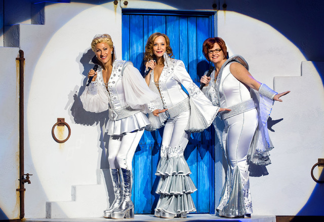 "Alison Ewing, Christine Sherrill and Mary Callanan star  in ""Mamma Mia!"" at the Tropicana. (Erik Kabik/Courtesy)"