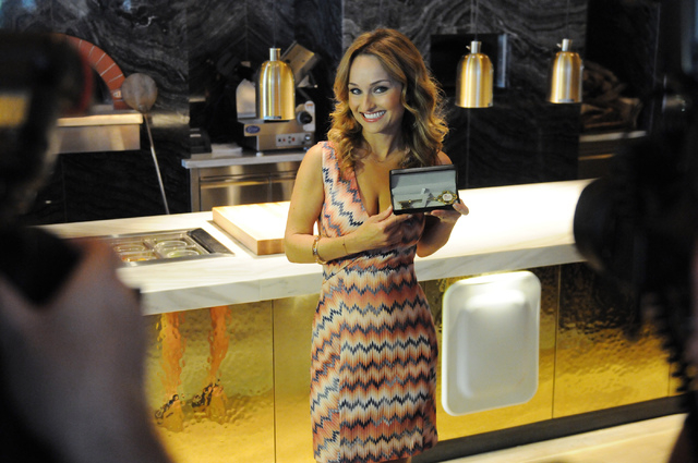 Celebrity chef Giada De Laurentiis poses for a photo inside her new restaurant at The Cromwell during the hotel's grand opening Wednesday, May 21, 2014. (Erik Verduzco/Las Vegas Review-Journal)