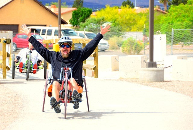 Jonathan Foster participates in the Paralyzed Veterans of America Nevada chapter's inaugural Walk, Run and Roll event in April 2013 at W. Wayne Bunker Family Park, 7351 W. Alexander Road. The no ...
