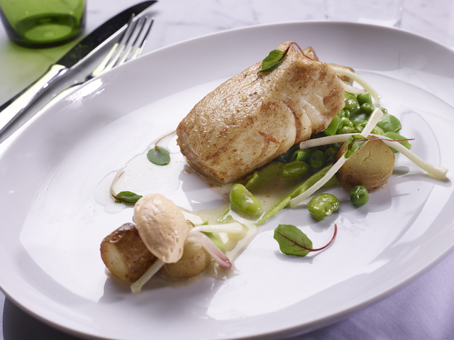 The halibut au romarin at DB Brasserie. (Courtesy)