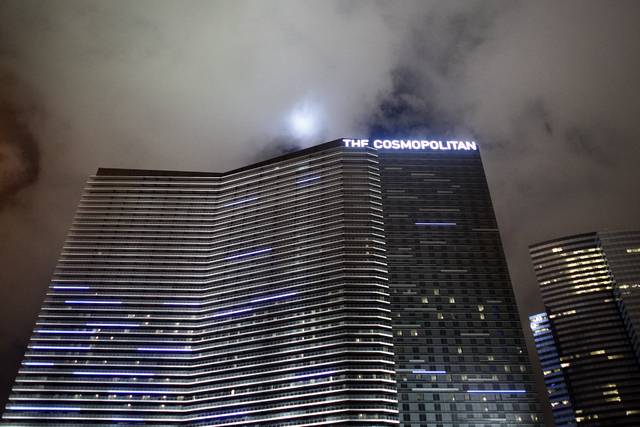 Deutsche Bank announced Thursday that the The Cosmopolitan of Las Vegas has been sold to the Blackstone Group for $1.73 billion. (John Locher/Las Vegas Review-Journal)