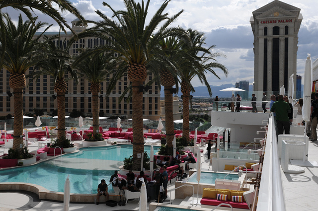 Drai's Beach Club at The Cromwell is seen during the hotel's grand opening Wednesday, May 21, 2014. (Erik Verduzco/Las Vegas Review-Journal)