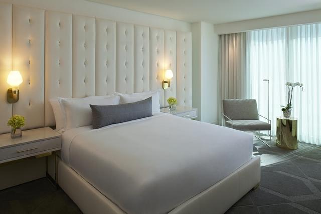 Delano Las Vegas' king bedroom is pictured. (Rendering courtesy of Delano Las Vegas)