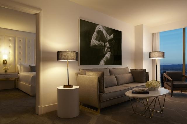 Delano Las Vegas' living room suite is pictured. (Rendering courtesy of Delano Las Vegas)