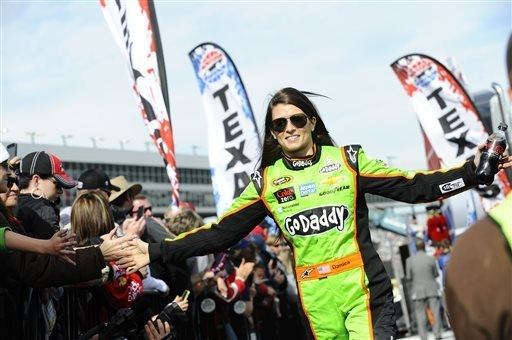 There were a lot of handshakes for Danica Patrick after her strong run in Kansas on Saturday night. (AP Photo/Ralph Lauer, File)