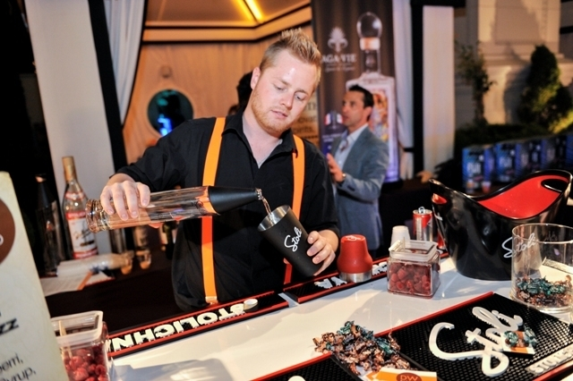 The 40th UNLVino included the second annual BAR-b-q, a mixology-inspired poolside soiree held April 11 at Caesars Palace's Garden of the Gods Pool. Las Vegas' most talented bartenders and mixologi ...