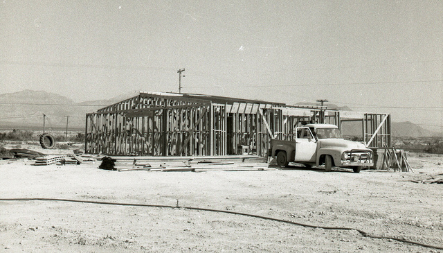 The initial phase of construction of the second Racel home is seen in 1969 in Las Vegas after the first house burned down. (Special to View).