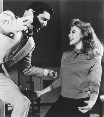 "Elvis Presley performs with actress Ann-Margret in ""Viva Las Vegas"" (Courtesy/Elvis Presley Enterprises Inc.)"