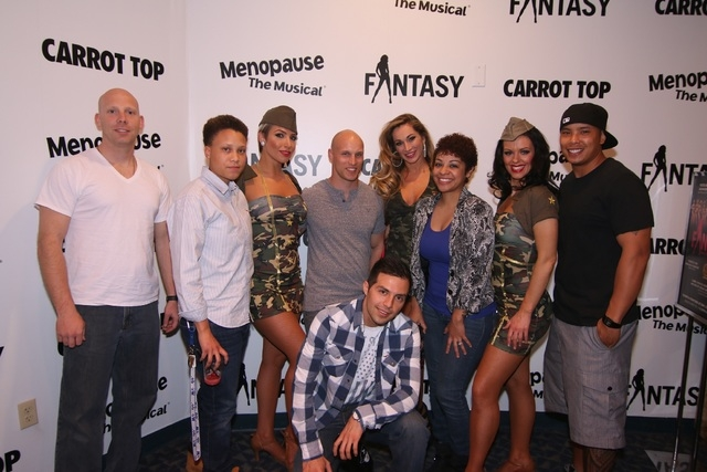 "Stars from the topless revue ""Fantasy"" in Luxor met servicemen after more than 100 troops saw their naked-ish skills in action for free during Military Appreciation Month. (Courtesy photo by Jeff  ..."