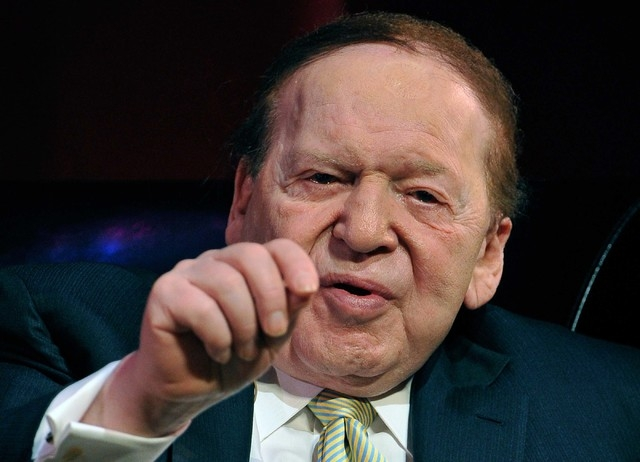 Las Vegas Sands Corp. CEO Sheldon Adelson speaks to College of Hotel Administration students at UNLV on Monday, May 5, 2014. (David Becker/Las Vegas Review-Journal)