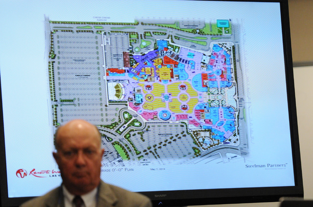 A artist rendering of Resorts World Las Vegas is seen during a presentation by Genting Group officials during a hearing at the Nevada Gaming Commission at the Sawyer Building in Las Vegas Thursday ...