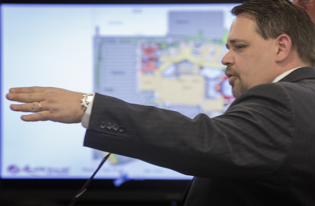 Christian Goode, CFO/Sr. VP Development Genting Americas speaks  in front of the Nevada Gaming Control Board  during a suitability hearing at  Sawyer Building on Wednesday, May 7, 2014. Genting Gr ...
