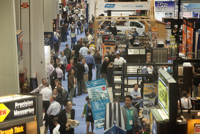 People as seen Tuesday, May 6, 2014 during the National Hardware Show in the Las Vegas Convention Center. More than 27,000 people are expected to attend the trade show. (Jeff Scheid/Las Vegas Revi ...