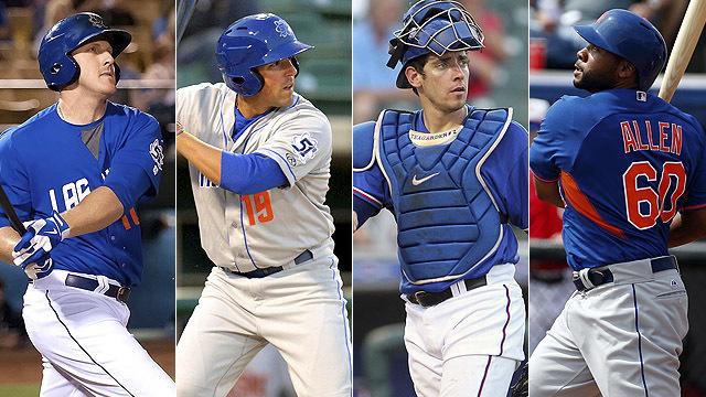 In order they hit them: Allan Dykstra, Zach Lutz, Taylor Teagarden and Brandon Allen. (Courtesy Las Vegas 51s)