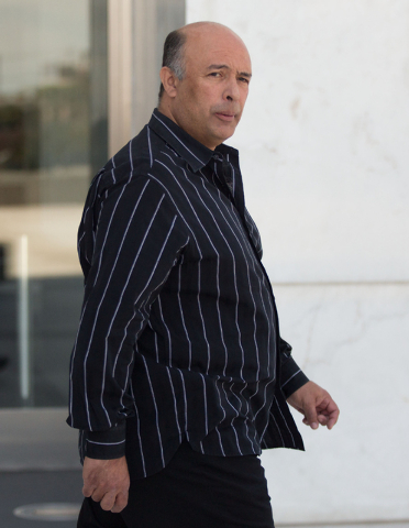 Jose Luis Alvarez leaves Lloyd George Federal Courthouse Thursday, May 22, 2014. Alvarez, his brother, Rudolfo Alvarez-Rodriguez, and Maria Limon each pleaded guilty to one felony count of conspir ...