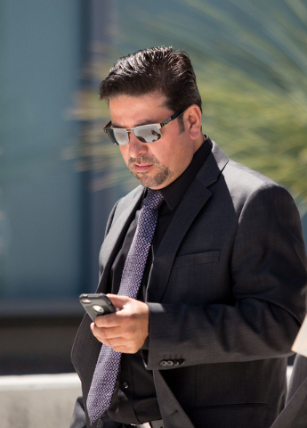 Rudolfo Alvarez-Rodriguez leaves Lloyd George Federal Courthouse Thursday, May 22, 2014. Alvarez, his brother, Jose Luis Alvarez, and Maria Limon each pleaded guilty to one felony count of conspir ...