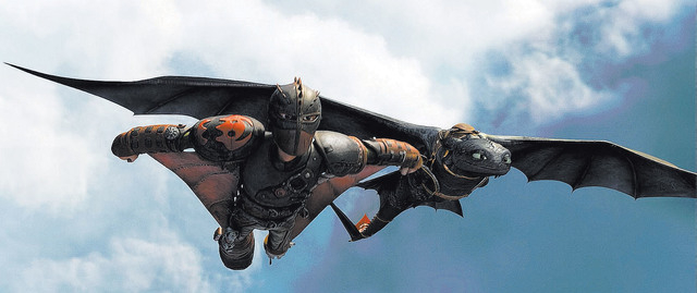 Hiccup (Jay Baruchel) and Toothless do some fancy flying. Date Added:4/16/2014 4:37:52 PM Addtl. Info:Photo Credit: DreamWorks Animation - How to Train Your Dragon 2 © 2013 DreamWorks Animati ...
