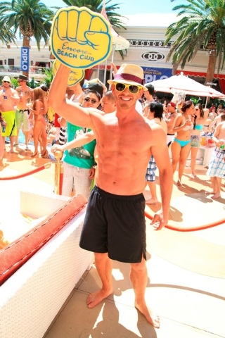 Ian Ziering at Encore Beach Club summer 2013. (Courtesy file photo by Amanda Nowak.)