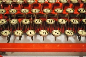 """A vintage typewriter, part of the """"Every Age Is an Information Age"""" exhibit at the Nevada State Museum, which opens Friday. Courtesy photo."""