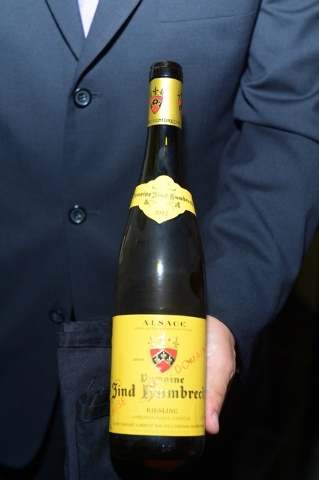 Riesling, Domaine Zind Humbrecht, Alsace 2012, paired with Le Caviar Imperial at Joёl Robuchon. (Courtesy photo by Bryan Steffy.)
