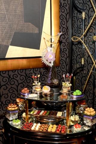 Dessert display at Joel Robuchon. (Courtesy photo by Bryan Steffy)