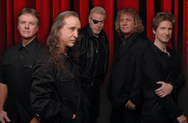 Classic rockers Kansas include, from left, Phil Ehart, Steve Walsh, Rich Williams, Billy Greer and David Ragsdale.