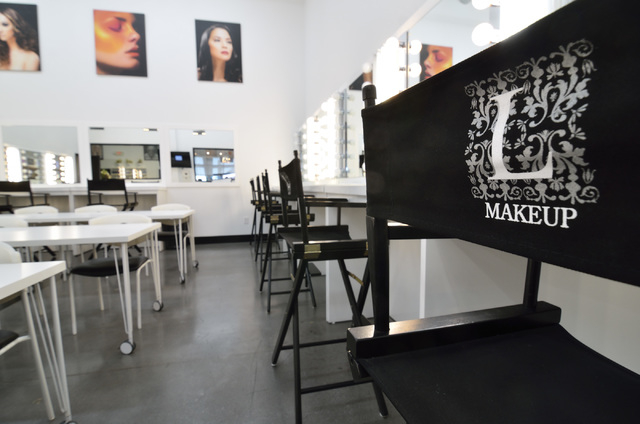 A room used for classes in makeup is shown during a grand opening at the L Makeup Institute at 5525 S. Decatur Blvd. in Las Vegas on Wednesday, May 21, 2014. (Bill Hughes/Las Vegas Review-Journal)