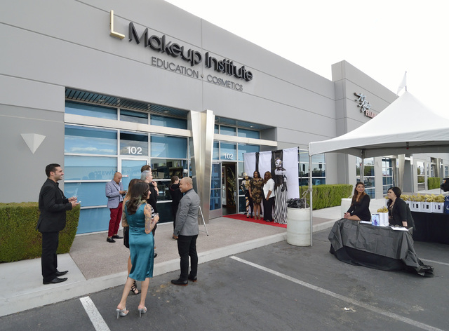 The exterior of the L Makeup Institute is shown during a grand opening at 5525 S. Decatur Blvd. in Las Vegas on Wednesday, May 21, 2014. (Bill Hughes/Las Vegas Review-Journal)