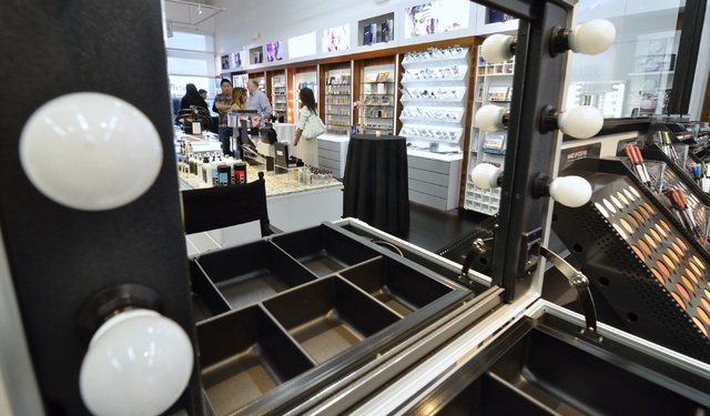 The interior of the L Makeup Institute is shown during a grand opening at 5525 S. Decatur Blvd. in Las Vegas on Wednesday, May 21, 2014. (Bill Hughes/Las Vegas Review-Journal)