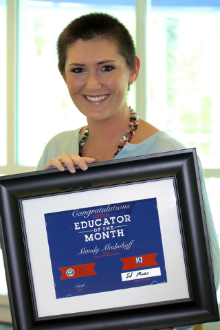 Mandy Madnikoff, a teacher in the Lower School of the Adelson Educational Campus, was named Nevada Teacher of the Month. (Adelson Campus Photography/Special to View)