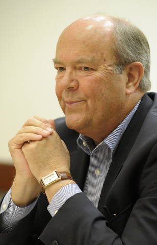 John F. Marz, Henderson Ward III councilman, speaks during an interview with the Review-Journal editorial board on Thursday May 15, 2014. (Mark Damon/Las Vegas Review-Journal)