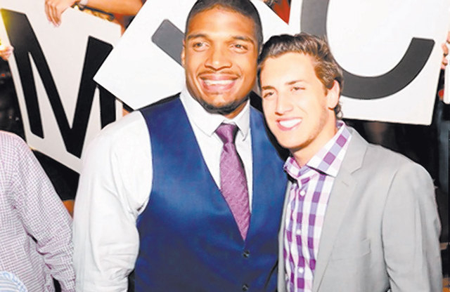 Michael Sam, the former University of Missouri defensive end, was at Tao on Saturday with his boyfriend, Vito Cammisano. Sam was selected by the St. Louis Rams in the NFL draft. (Courtesy/Amit Dad ...