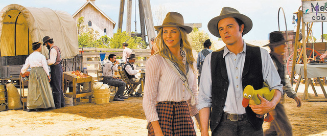 """Film Title: A Million Ways to Die in the West  SETH MACFARLANE and CHARLIZE THERON star in """"A Million Ways to Die in the West"""", the new comedy from director, producer and co-writer MacFa ..."""
