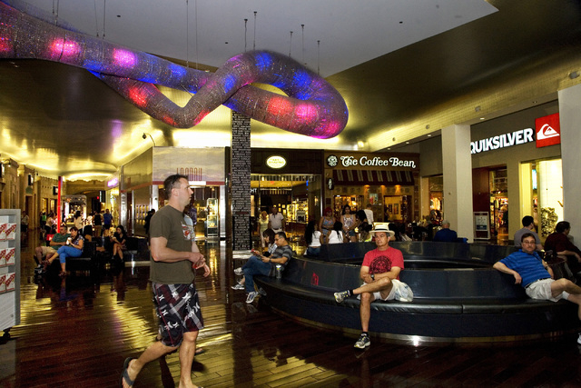 Miracle Mile Shops at Planet Hollywood in Las Vegas is shown Friday, May 9, 2014. General Manager Jerry Irwin said a 60,000 sq. ft. expansion of the mall is planned for 2015. (Jeferson Applegate/L ...
