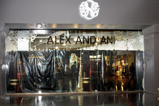 Alex and Ani, a new stores under construction at Miracle Mile Shops at Planet Hollywood in Las Vegas, is shown Friday, May 9, 2014. General Manager Jerry Irwin said a 60,000 sq. ft. expansion of t ...