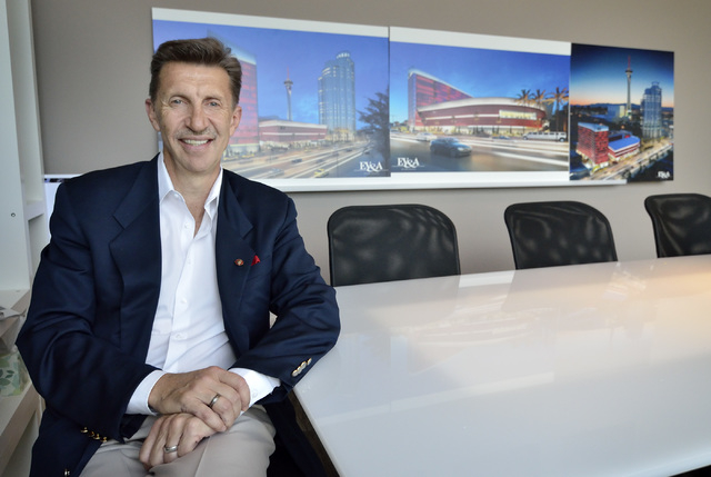 Ed Vance, founder and CEO of Ed Vance and Associates Architects, is shown at his business at 900 S. Paviion Center Drive in Las Vegas on Friday, April 25, 2014. (Bill Hughes/Las Vegas Review-Journal)