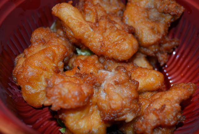 Karaage, described on the menu as fried chicken, is among the specialties at Ninja Teriyaki Sushi 2 Go, 3025 E. Desert Inn Road. (Ginger Meurer/View)